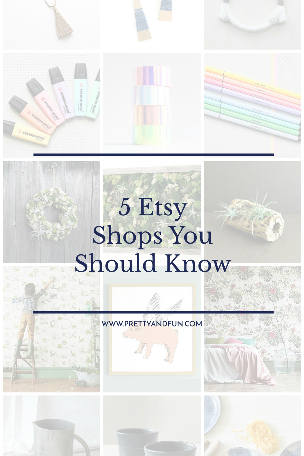 Best Etsy Shops   5 Shops You Should Know   Pretty & Fun